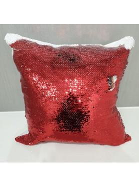 Cuscino personalizzato con paillettes reversibile