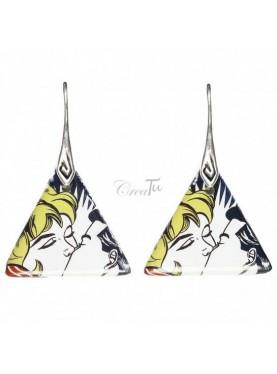Orecchini Il bacio di Lichtenstein