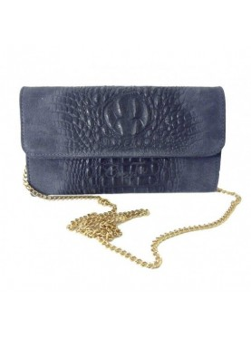 Pochette Vera Pelle Con Catena Made In Italy